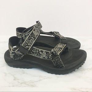 Teva   Black and white design sandals size 6w